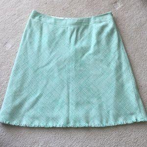 Eli's Tahiti Mint Green Tweed Skirt Size 12 EUC
